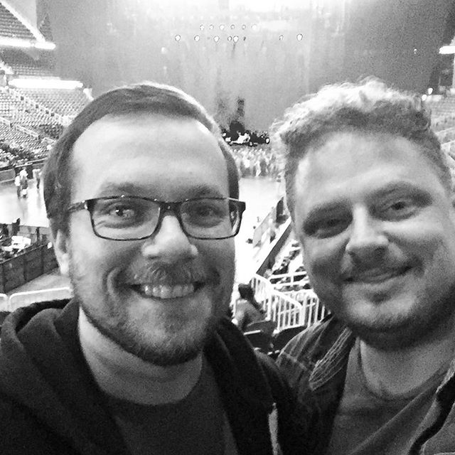 About to see @radiohead in Atlanta with my buddy Mark! #radiohead #atl