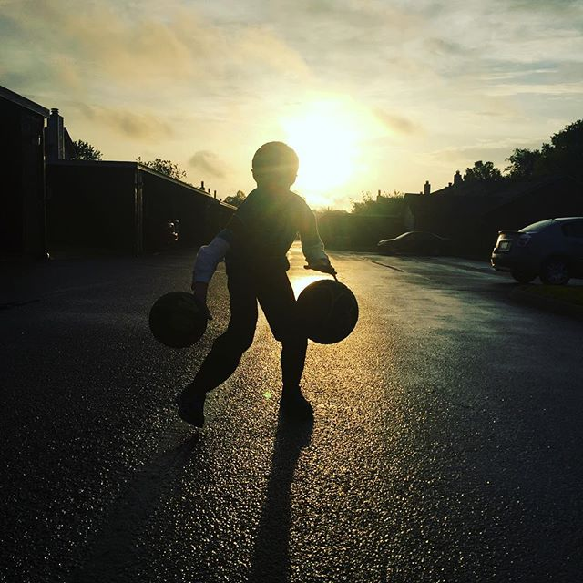 Training for @theharlemglobetrotters :)