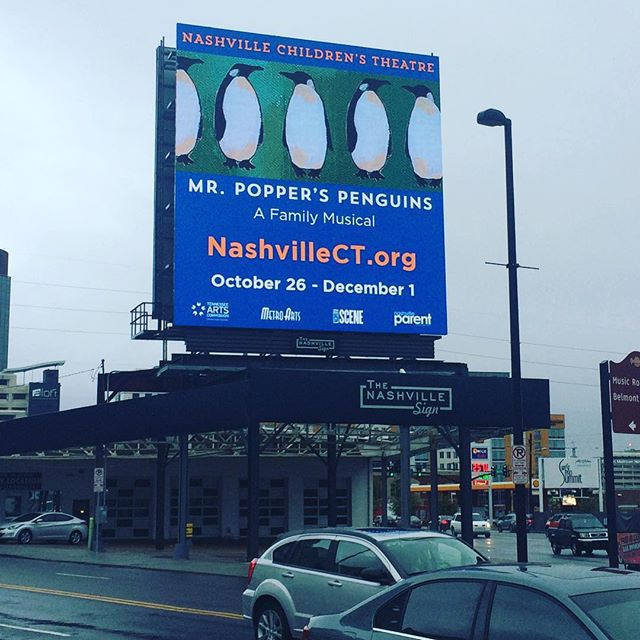 My art made it to @thenashvillesign :) #art #nashville #aarongrayum #penguins #thebigtime