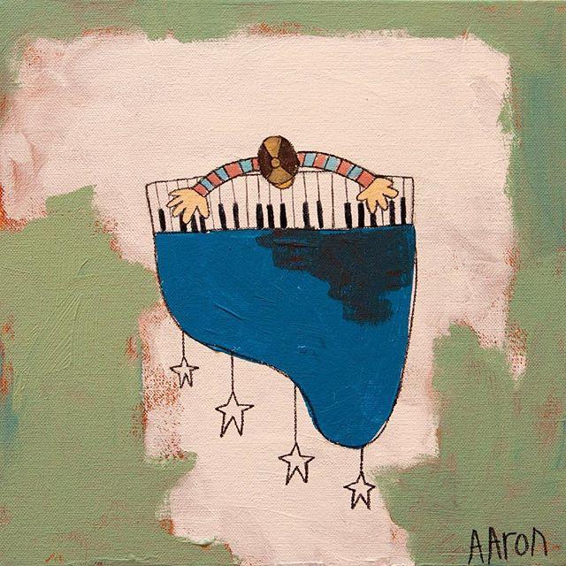 "🏻️ Christmas Sale!MY BLUE PIANO - 12"" x 12""Orig: $200 