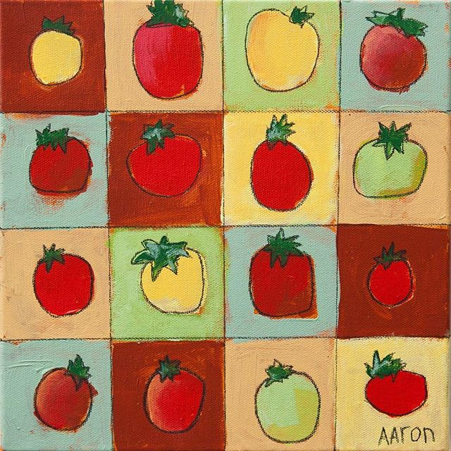 "🏻 CHRISTMAS SALE!!""SIXTEEN TOMATOES"" - 10"" x 10""Orig: $150 
