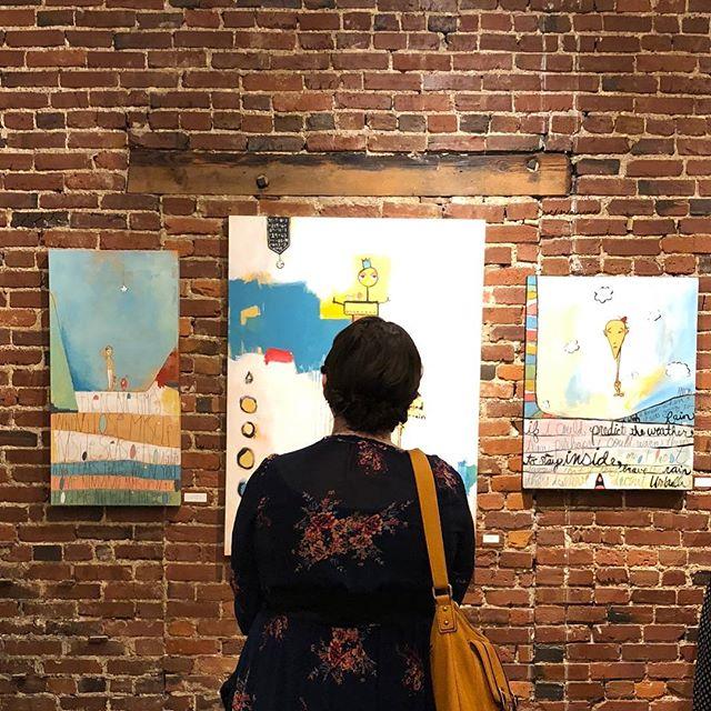 @tedxnashville art opening last night at Studio 208. My art looks pretty good on a brick wall :) #nashville #art #tedxnashville #aarongrayum