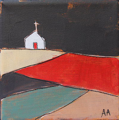 "Church on the Hill 5""x5"""