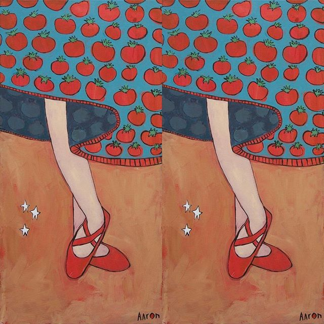 "☃️🏻 CHRISTMAS SALE!""TOMATO DRESS"" - 18"" x 36""Orig: $900 