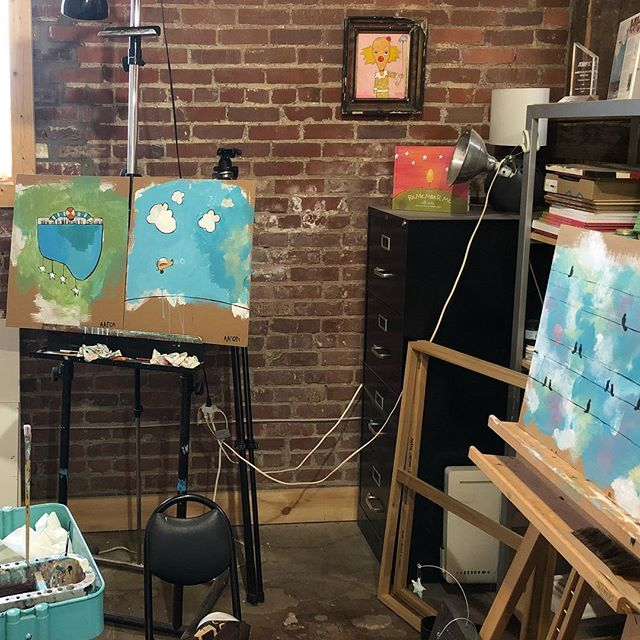In the studio. #aarongrayum #art #birds #commissionswelcome