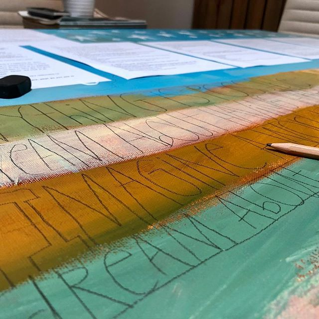 Finishing up the annual youth ambassador painting for the JDRF Middle Tennessee Promise Gala – taking words, thoughts, and dreams given by kids with #Type1diabetes and turning them into a painting that gets auctioned. This year the Gala is being held on the field at @nissanstadium..#aarongrayum #jdrf #diabetes #art #jdrfpromisegala