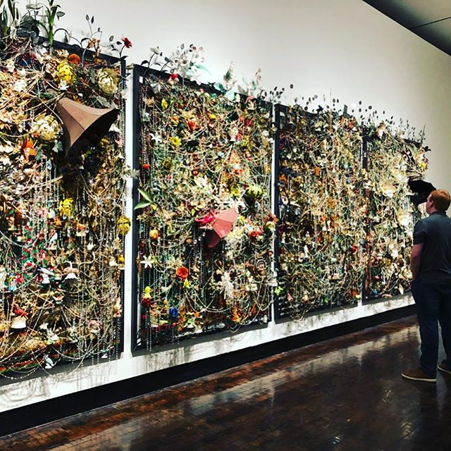 Insane piece by @nickcaveofficial at the @fristartmuseum today.#nashville #art #fristmuseum #nickcavefeat